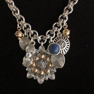 Lucky Brand Cluster Charm Necklace